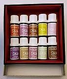 Coffret aromathérapie -' L'absolu' - 10 huiles essentielles bio de 5ml bois de hô...