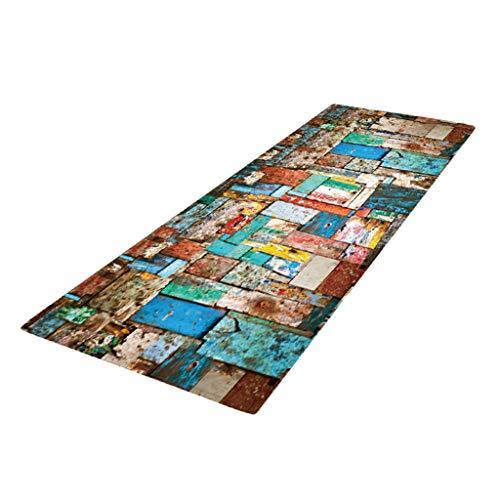 HomeDecTime Schmutzfangmatte Schmutzfangläufer Fußmatte Küchenläufer - Bunter Schiefer