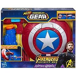 Marvel Avengers Assembler Gear Capitán América, Talla única (Hasbro E0567EU4)