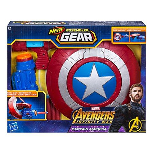 America Avengers Captain Assemble Kostüm - Hasbro Avengers E0567EU4 Marvel Assembler Gear Captain America, Spielzeugblaster, andere, Norme