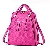 Dearbbag Versione coreana della borsa a tracolla dello zaino delle signore di bella borsa delle donne rose red