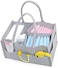 LQZ Baby Diaper Caddy Storage Bag Portable Nappy Basket Organizer for Mom