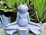 HOME HUT Adorno de Rana de Yoga para Decoración de Jardín, Solar, para el Aire Libre