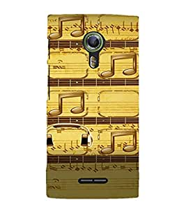 PrintVisa Music Notes 3D Hard Polycarbonate Designer Back Case Cover for Alcatel Onetouch Flash 2