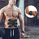 Tragbar Bauchmuskeln Toner Stimulator Gear Toning Gürtel 6 Modi 10 Stufen verwendet als körpernahe Passform Pad/Vibration EMS Trainer, Fettverbrennung Slim Fitness Equipment für Bauch/Arm/Bein Training Herren Frauen