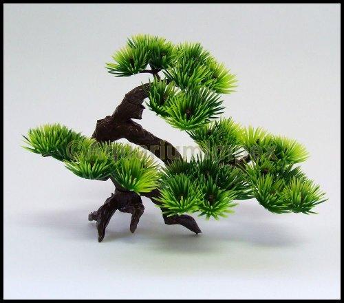 Wasserpflanzen Kunststoff BONSAI Baum für NANO Aquarium Terrarium Pflanze 18300 16cm