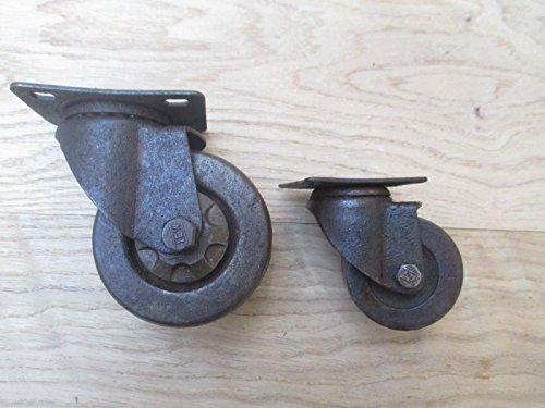 1 rueda giratoria de hierro fundido. Material:Rueda giratoria de hierro fundido y cuerpo de acero.Rueda giratoria de hierro fundido, de diseño industrial, antiguo y rústico. Rotación de la rueda de 360 grados. Placa de fijación pequeña de 60 x 40mm....