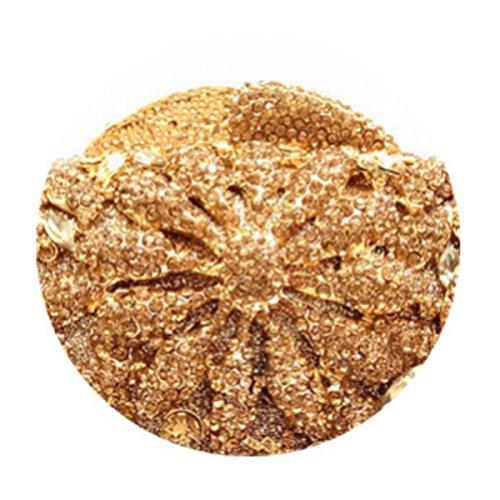 Frauen-Diamant-Abendtasche Braut Handtasche Gold