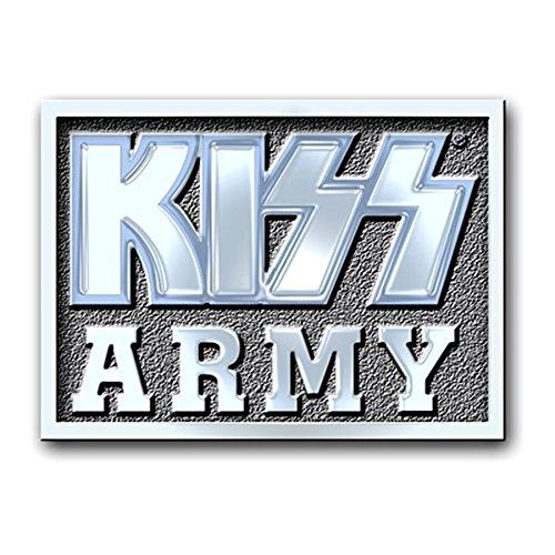 KISS Army Block Band Logo Metal Pin Badge Brooch Album Official Product (Pin-album)