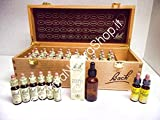 Bach Flower Remedies Set, wooden, 40 x 10 ml, Set Flores de Bach en caja de madera