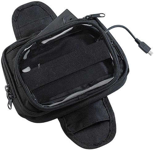 NavGear Navitasche: Magnetische Navi-Tasche für den Motorrad-Tank, mit Powerbank-Funktion (Motorradtasche)