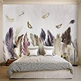 YUANLINGWEI Einfache Feder Muster Wohnzimmer Sofa Wand Nordic Kunst Wandbild,50cm (H) X 70cm (W)