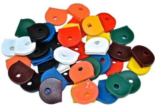 Bulk Hardware - Cappucci per chiavi, colori assortiti