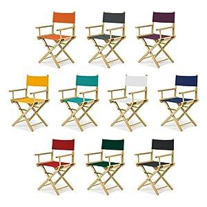 bas REGIESTUHL Stuhl aus Holz Campingstuhl (BLAU)