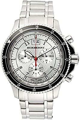 Burberry Endurance LUXURY Mens Unisex Womens Stainless Steel Chronograph Watch Silver Date Dial BU7603