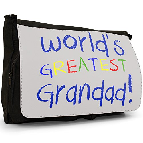 Fancy A Bag Borsa Messenger nero World's Greatest Aunty Birthday Gift World's Greatest Grandad