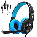 Cascos PS4 Cocoda Auriculares Gaming para PS4 Xbox One Nintendo Switch PC con Micrófono, Sistema de Control Volumen y Cancelación de Ruido, Compatible para Laptop, Tablet, Teléfono y Mas