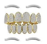 Top Class Jewels Plaqué Or 24 carats grillés avec micropave CZ Diamonds + 2 Barres de Moulage Extra