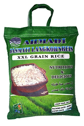 AHMADI Basmatireis Golden Sella, High Quality, XXL Korn (5 kg)