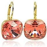 Ohrringe mit Kristallen von Swarovski® Gold Rot Orange NOBEL SCHMUCK