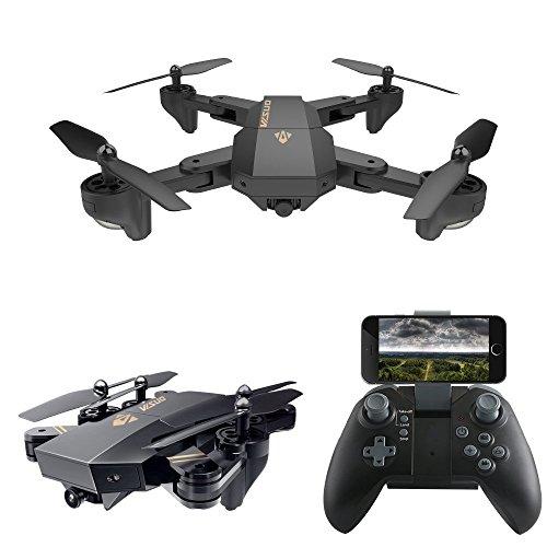 Dairyshop zusammenklappbare Drohne mit Fernsteuerung, 2,4GHz 6-Achsen Gyro, Drohne mit 720p HD 2MP Kamera, WiFi-Drohne.