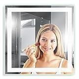 Artland Qualitätsspiegel I Spiegel Badspiegel satinierter Lichtfläche und LED Beleuchtung...