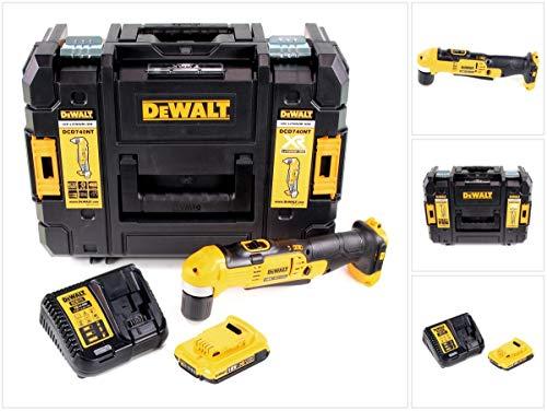 DeWalt DCD 740 D1 - Trapano angolare con batteria agli ioni di litio da 18 V, valigetta TSTAK II, batteria da 2 Ah e caricatore inclusi