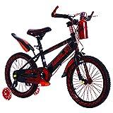 MUYU Vélo Enfant 12(14,16,18,20) Pouces Vélo Garçons Filles Vélo avec Roue Auxiliaire Vélo de Montagne pour Enfant De 3 À 12 Ans VTT,Red,18inch