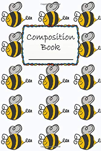 Composition Book: Cute Little Bee Composition Book to write in - Wide Ruled Book - animals -