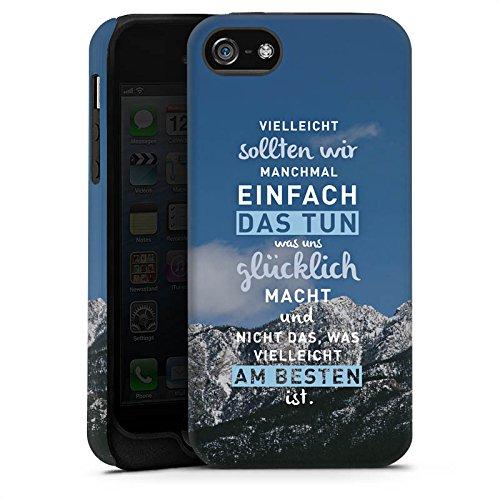 Apple iPhone 6 Hülle Silikon Case Schutz Cover Sprüche Glücklich Statement Tough Case matt
