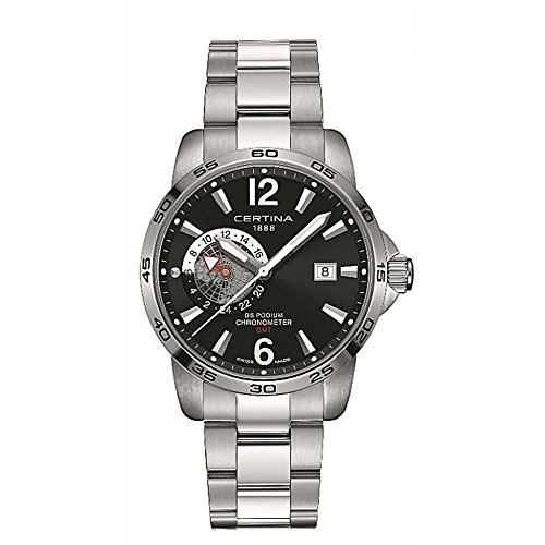 Certina Men's DS Podium GMT 41mm Steel Case Quartz Watch C034.455.11.057.00
