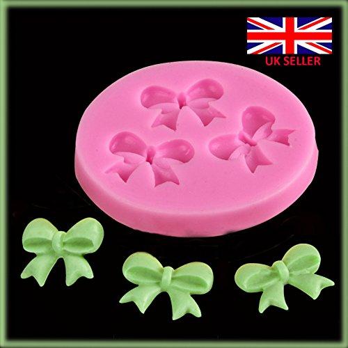 3cute Bow Ribbon fiore stampo in silicone fondant cake topper per cupcake Mold Ice