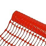 HELO Absperrnetz Baustellenzaun 30 m Länge, 1 m Höhe (rot) aus wetterbeständigen und UV-stabilisierten Kunststoff, Größe der Netz Löcher: 90x26 mm, 1 x 30 Meter Rolle