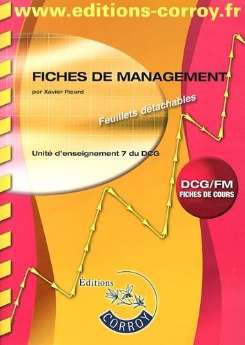 Fiches de management UE 7 du DCG