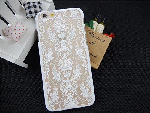 Coque iPhone 6 Plus/6s Plus , iNenk® rétro Palace fleur Matte dur PC Shell protection manches Fashion cas marée couvrir pour femmes-bleu Blanc2