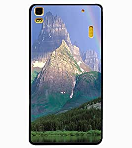 ColourCraft Rainbow Image Design Back Case Cover for LENOVO A7000