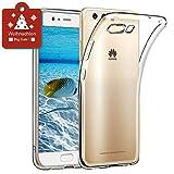 wsiiroon Hülle für Huawei P10, Huawei P10 Handyhülle - Crystal Clear Ultra Dünn Durchsichtige Silikon Schutzhülle TPU Case für Huawei P10 Transparent