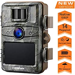 Campark Cámara de Caza 14MP 1080P HD Trail Cámara con 44pcs IR LED Invisible Visión Nocturna Distancia de Disparo hasta 20M IP66 Impermeable Cámara de Animal Salvaje con 2.4 '' LCD Screen