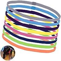 OZUAR 8 Piezas Cabello Diademas de Niñas mujer,Cintas de pelo para mujer niña hombre deportivas elasticas - para Correr Fútbol Entrenamiento Yoga y Más(8 colores)