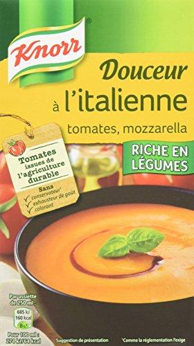 Knorr Soupe Douceur à l'Italienne Tomates/Mozzarella 1 L - Lot de 4