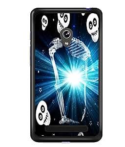 Fuson 2D Printed Skeleton Designer back case cover for Asus Zenfone 5 - D4521