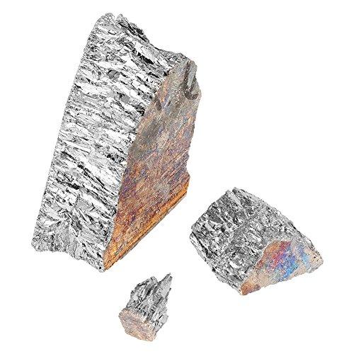 Taidda Bismut-Metallbarren-Stück, 1000g 99,99% Pure Crystal Geodes Bismut-Metallbarren-Stück zur Herstellung von Fischködern aus Kristallen, die andere Metalle legieren