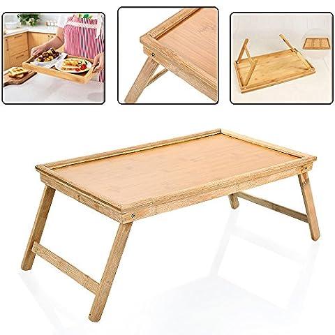 Zipom 100% Portable en bambou support pour ordinateur portable pliable pour bureau Table d'ordinateur portable ordinateur portable Table de lit Plateau de lit, fleur style Design, des Jeux sur table de lit avec