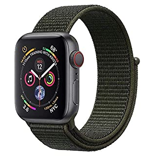 ANBEY For Apple Watch Strap 38mm 40mm 42mm 44mm, Suitable for iWatch Apple Watch Series 4, Series 3, Series 2, Series 1, Nylon Sport Loop Band Replacement Wristband dark green 38/40mm