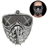 WINBST Halloween Scary Maske Pest-Maske Doktor Arzt Kopfmaske Party Fasching Cosplay Venedig-Maske Karneval Punk Leder Maske