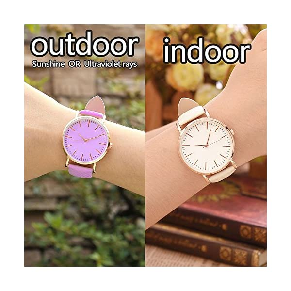 Skylofts Analogue Watche Solar Colour Changing Kids Watch Pink White Dial For Girls