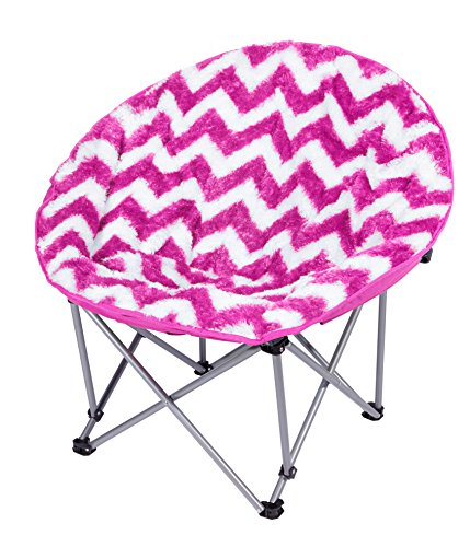3 C4g Chevron Lune Chaise, Rose Vif