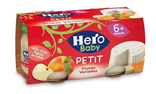 Hero Baby - Babypostres. Petit Queso Y Frutas Variadas - 2 x 80 g - [pack de 4]