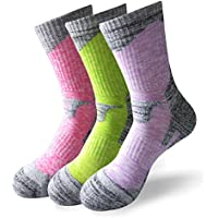 MAIBU 3-Pack Ski Socken Warm Komfortable gepolsterte Sport-Socken für Laufen, Berg, Snowboard
