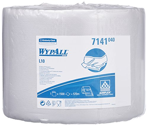 wypall-l10-cloth-wipes-product-code-7141-single-roll-of-1500-white-1-ply-sheets